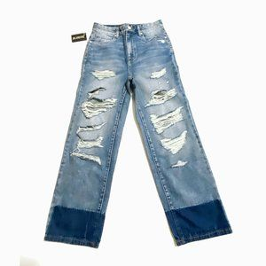 NWT BlankNYC distressed color blocked jeans,27